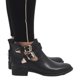 Ideal Shoes Navyblå åbne støvler Y8157
