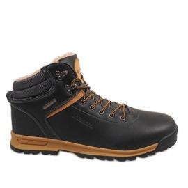 Sort isolerede sne støvler M17097-2