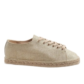 Gyldne blonder-up espadrilles 831-1 gul