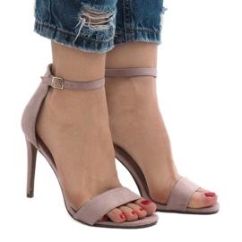 Lilla Violette sandaler på en ruskind hæl SY-31P