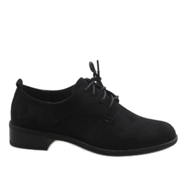 Sort jazz sko med ruskindsko C-7183