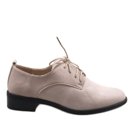 Brun Beige jazz sko med ruskindsko C-7183