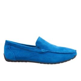 Mørkeblå elegante loafers sko AB07-6