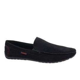 Sorte elegante loafers AB96K-1