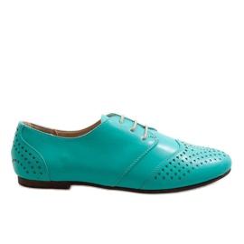 Grøn Green openwork jazz sko Oxford 1