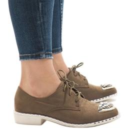 Grønne slip-on sko med L155 pailletter