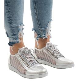 Grå Sølv openwork sko TL44