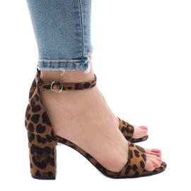 Leopard femhælede sandaler 5102