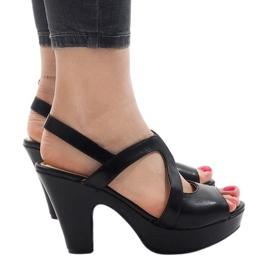 Sort høje hæle BL1501