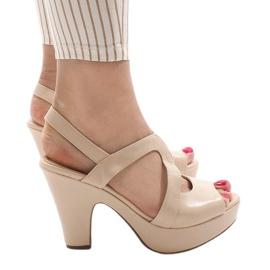 Brun Beige BL1501 højhælede sandaler
