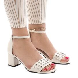 Hvide høje hæle 173-856