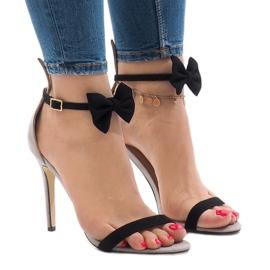 Grå ruskind sandaler højhælkebue ZJ-15P