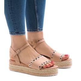 Pink sandaler på platformen 99-46