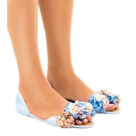 Blå meliski sandaler med AE20 blomster