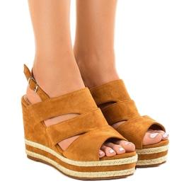 Brun espadrilles FG6 kile sandaler