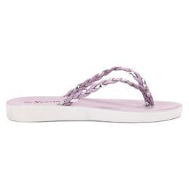 Seastar Violet Flettet Flip-flops lilla