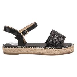 Small Swan sort Espadrilles Black Sandals