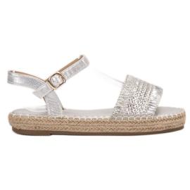 Small Swan grå Espadrilles sølv sandaler