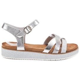 Bestelle grå Sandaler Med Brocade Sole