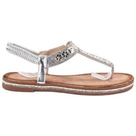 SHELOVET Sølv Sandaler grå