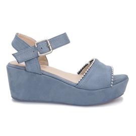 Blå sandaler på lagunen kile