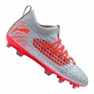 Fodboldstøvler Puma Future 4.3 Netfit Fg / Ag Jr 105693-01 grå rød, grå / sølv