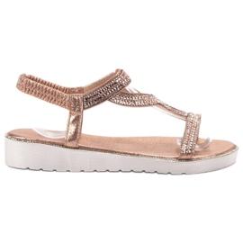 Bestelle pink Slip-on Sandaler på platformen