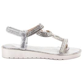 Bestelle grå Slip-on Sandaler på platformen