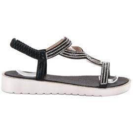 Bestelle sort Slip-on Sandaler på platformen