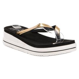 SHELOVET sort På flip-flops Wedge Heels