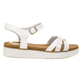 Bestelle hvid Sandaler Med Brocade Sole