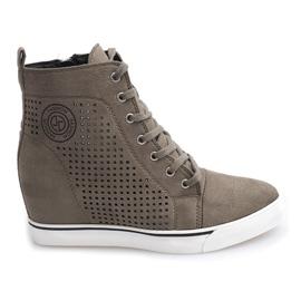 Openwork Sneakers XW36236 Oliven
