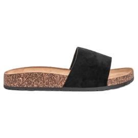 Bello Star Klassiske sorte tøfler