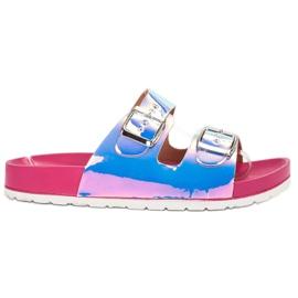 Ideal Shoes grå Tøfler Med Holo Spænde