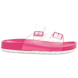Ideal Shoes pink Gennemsigtig Flaps Se Spænde