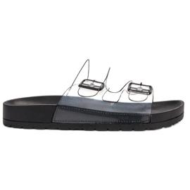 Ideal Shoes sort Gennemsigtig Flaps Se Spænde