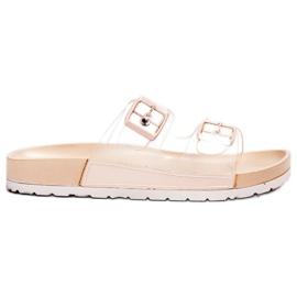 Ideal Shoes brun Gennemsigtig Flaps Se Spænde