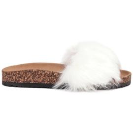 Bona hvid Tøfler Med Fur