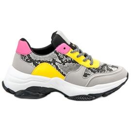 SHELOVET flerfarvede Farverige Sneakers Snake Print