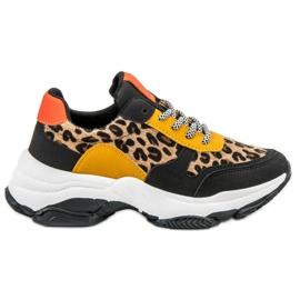 SHELOVET flerfarvede Farverige Leopard Print Sneakers