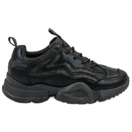 SHELOVET sort Glitter Sneakers
