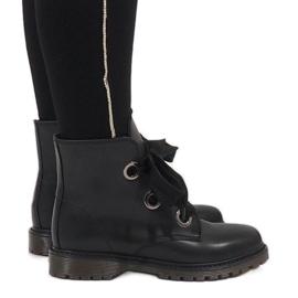 Kayla Shoes Sort blonderopstøvler PF276