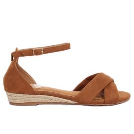 Sandaler espadrilles brun 9R121 Camel