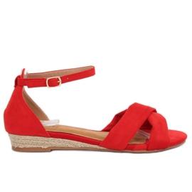 Sandaler espadrilles rød 9R121 Rød