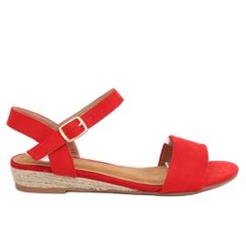 Sandaler espadrilles rød 9R73 Rød