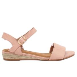 Sandaler espadrilles pink 9R73 Pink
