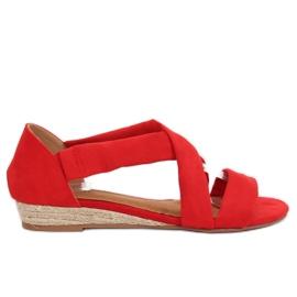 Sandaler espadrilles rød 9R72 Rød