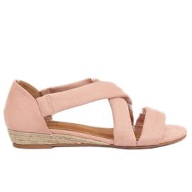 Sandaler espadrilles pink 9R72 Pink