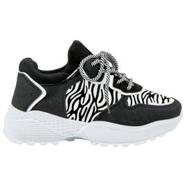 SHELOVET Moderigtigt Sneakers Zebra Print