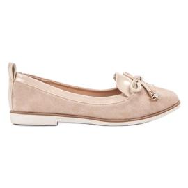 SDS brun Stilfuld Beige Ballerinas